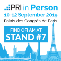 Find OFI Asset Management at stand #7 at the PRI in Person conference on September 10-12, 2019