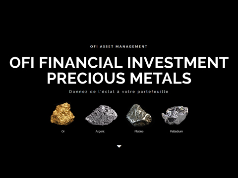 Site internet OFI Precious Metals