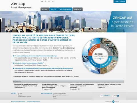 Site internet Zencap AM