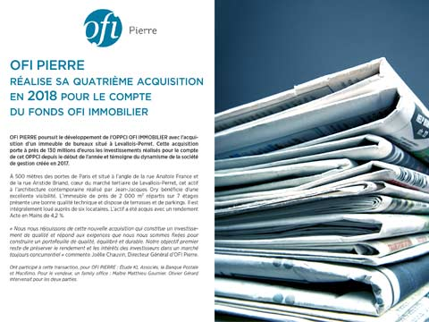 OFI Pierre réalise sa 4e acquisition en 2018