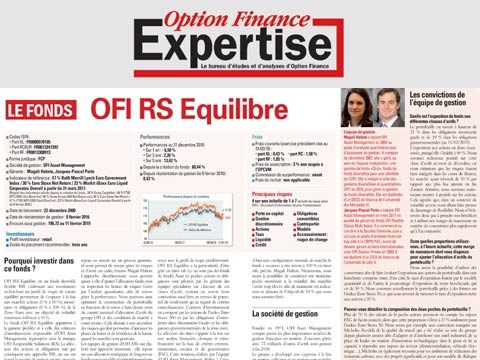 Le fonds OFI RS Equilibre