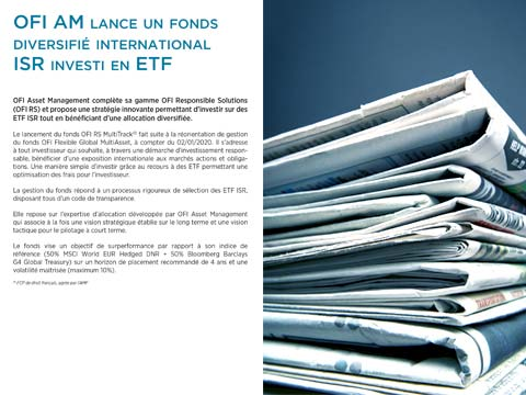 OFI AM lance un fonds diversifié international ISR investi en ETF