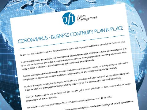 Coronavirus – Business Continuity Plan in place