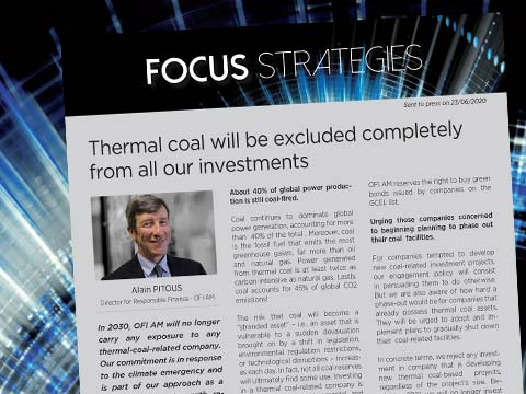 Thermal coal will be excluded completely from all our investments