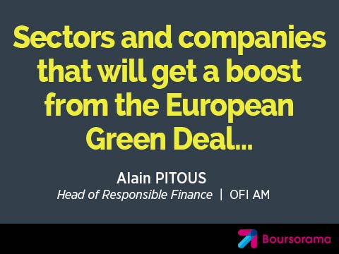 Sectors and companies that will get a boost from the European Green Deal…